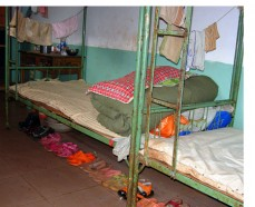 Bunks with shoes