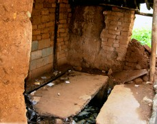 Outdoor latrine at school in southwest Yunnan Province