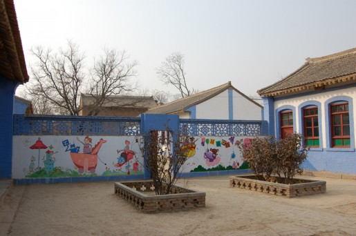 Finished mural in the school's courtyard